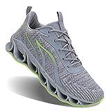 JSLEAP Sportschuhe Herren Laufschuhe Damen Turnschuhe Freizeitschuhe Atmungsaktiv Sneakers Mode Straßenlaufschuhe 39 Grau