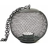 Grehom Tea Light Holder - Cage (Black); Hurricane Candle Holder; Lantern Made Of Metal