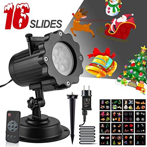 Projektionslampe Weihnachten Licht Projektor mit 16 Pattern Slids Drahtlose Fernbedienung Innerhalb von 20 Metern Führte Durch die Wand, IP65 Wasserdichte Outdoor Urlaub LED Projektor Lampe (Twinkle Kürbis)