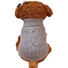 Sannysis Camisetas para pequeño Perros Accesorios Ropa clásico suéter Polar suéter Ropa Caliente suéter de Invierno