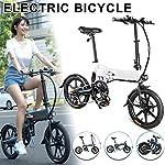 515CzN9n3IL. SS150 Bicicletta elettrica Pieghevole, City Bike Pieghevole, Pieghevole Bici elettrica Bicicletta in Lega di Alluminio da 16…