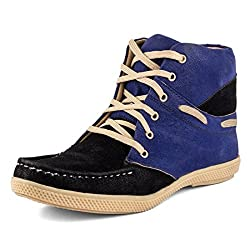 Golden Sparrow MenS Blue Fabric Synthetic Casual Shoe (Tm-P62-06)- 6 Uk