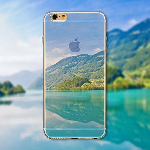 Coque iPhone 6 Plus 6s Plus Housse étui-Case Transparent Liquid Crystal en TPU Silicone Clair,Protection Ultra Mince Premium,Coque Prime pour iPhone 6 Plus 6s Plus-Paysage-style 18 7
