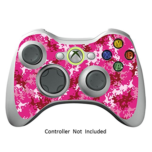 Xbox 360 Controller Designfolie Sticker - Vinyl Aufkleber Schutzfolie Skin für Xbox 360 Controller - Digicamo Pink (Minecraft Xbox 360-controller)