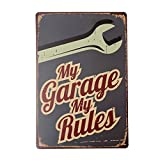 Aliciashouse Mon Garage Tin signe Vintage Metal Plaque Poster Bar Pub maison mur déco