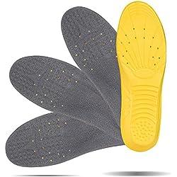 LIHAO 2 Pares de Plantillas Zapatos Unisex Plantillas Gel Deportivas (37 1/3 -- 40 UE)