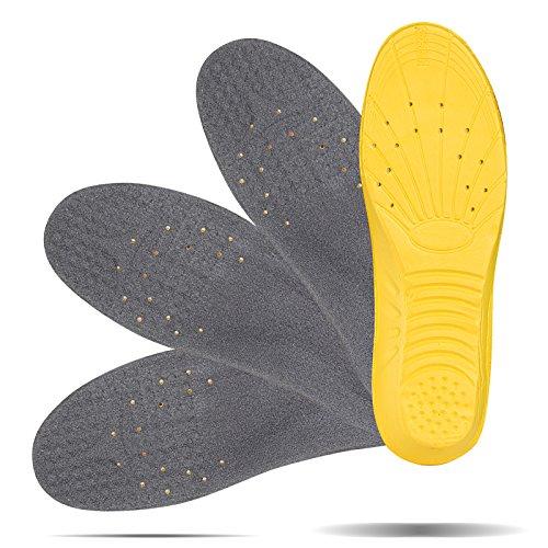 LIHAO 2 Pares de Plantillas Zapatos Unisex Plantillas Gel Deportivas (37 1/3-40 UE)
