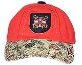 GD Boy's Peak Cap (Red,2-4yrs )