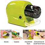 This easy-to-use cordless sharpener features a built-in guide to hold your blades at the perfect angle. A professional-grade mineral sharpening wheel and two-stage system restores a razor-sharp edge in just seconds. Use it on knives, precision hand t...