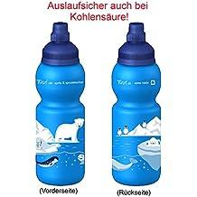 Fizzii Niños 330plástico botella caño seguro en carbón Acid, sin sustancias nocivas, apto para lavavajillas, hielo Mundo, 330ml