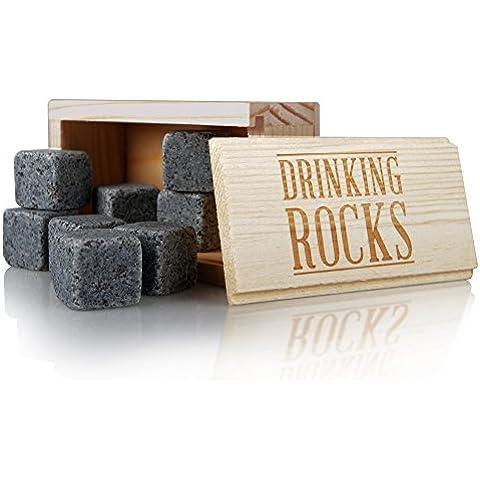 Whisky piedras Set de regalo. Mejor Rendimiento granito bebida rocas. Gran calidad de refrigeración. Mantener Su bebida fría por más tiempo sin dilución. Regalo perfecto para cualquier