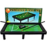 meduim size ultra Classic Pool Table Set with 4 Stands, Colorful Snooker Balls & 2 Cue Sticks, Perfect for Gift to Kids