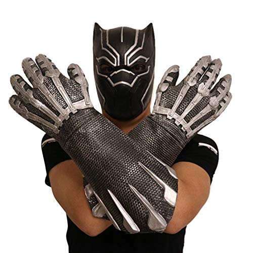 VAWAA Film Black Panther Kralle Handschuhe Avengers Infinity War Maske Kostüm Halloween Party Cosplay Requisiten Für Erwachsene Männer Frauen