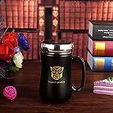 #5: SK-tm ceramic TRANSFORMER superhero coffee mug with mirror lid gift for Diwali/Diwali gift/Diwali gift idea/gift for birthday /gift /gift for new year-1 pcs- 350 ml