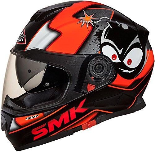 SMK Helmets - Twister - Cartoon Orange - Full Face Dual Visor Motorcycle Helmet