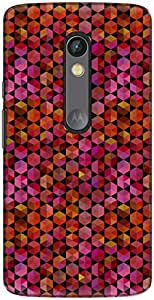 The Racoon Lean printed designer hard back mobile phone case cover for Motorola Moto X Play. (Magenta Re)