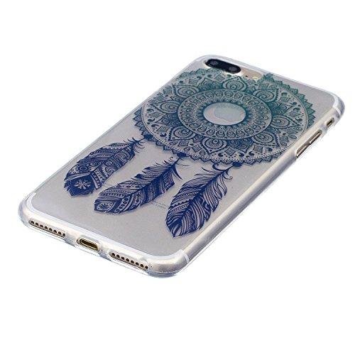 Cover iPhone 7 Plus, CaseLover Custodia per iPhone 7 Plus (5.5 Pollici) Ultra Sottile Trasparente Morbida Gomma Gel TPU Silicone Protectiva Corpeture Flessibile Cristallo Chiaro Liscio Antiurto Protez Cacciatore di sogni