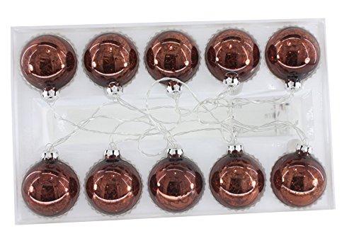 Renaissance 200010LED rund Glas Ball Licht Kette braun