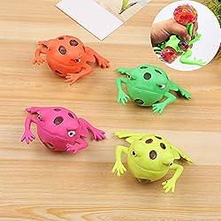 FEIDAjdzf Quetschspielzeug zum Stressabbau, kreatives Tier-Frosch-Design, zum Drücken von Stress und Dekompresse, Geschenk, zufällige Farbe