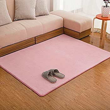 Ustide Memory Foam Rugs For Living Room Coral Fleece Bedroom Area ...