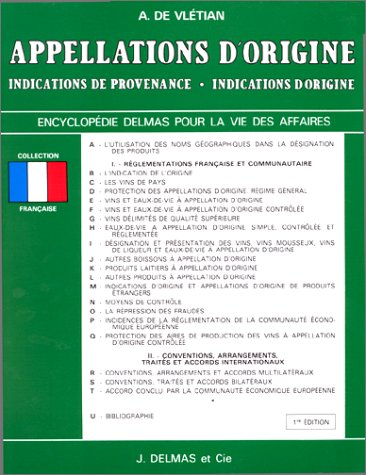 APPELLATIONS D'ORIGINE. INDICATIONS DE PROV