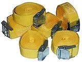 6 Stück Spanngurte Klemmschloss Befestigungsriemen Spanngurt mit Schnellverschluss
