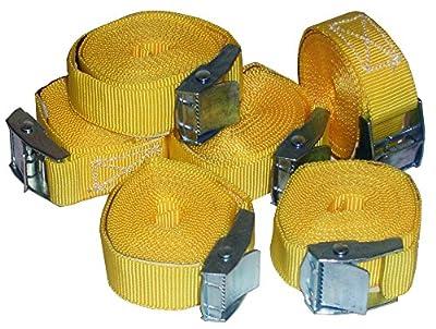 6 Stück Spanngurte Klemmschloss Befestigungsriemen Spanngurt mit Schnellverschluss (6) (6 Stück gelb)