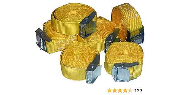 Timtina 6 Stück Spanngurte Klemmschloss Befestigungsriemen Spanngurt Mit Schnellverschluss 6 Auto