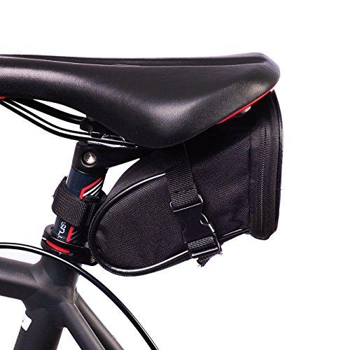 BTR Fahrrad Satteltasche. Kompakte Fahrradtasche. Schwarz. Wasserbeständig
