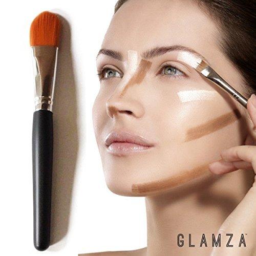 Glamza Classic Make-up-Pinsel, flach, 1 Stück - Lidschatten-pinsel Flache Spitze