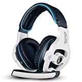 Sades SA - 810 WCG Professional Gaming Gamer Casque Micro de Jeux avec Microphone