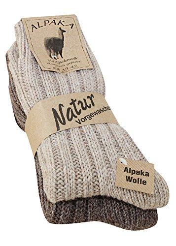 4 Paar FussFreunde ABS-Socken Norwegersocken mit 50/% Wolle Rutschfeste Sohle