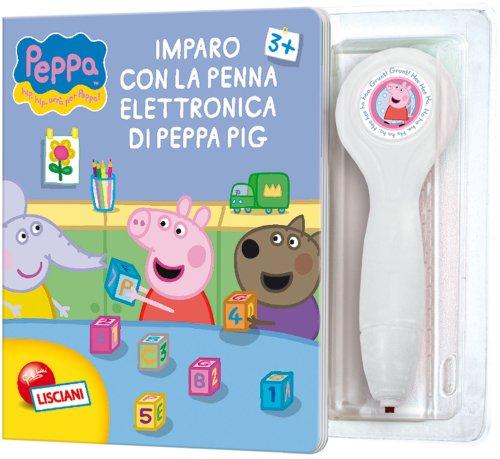 Leggi e impara con peppa pig. imparo con la penna elettronica di peppa pig. con gadget