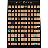Enno Vatti 100 Movies Scratch Off Bucket List Poster - Liste des Films de Tous Les Temps (42 x 59.4 cm)
