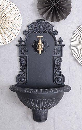 Antiker Wandbrunnen, Zierbrunnen, Gartenbrunnen, Brunnen, Eisenbrunnen für den den Garten, die Terrasse oder schöne Zuhause - Palazzo Exclusive