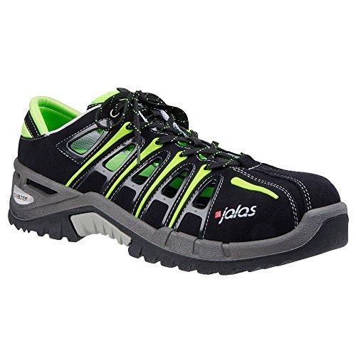 Sandales de sécurité S1Jalas exalter 9500San Dale de travail avec capuchon de protection d'été Chaussures de sécurité Noir/Gris/Vert