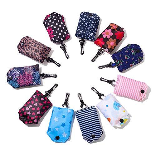 Kaxich Faltbare Wiederverwendbare Einkaufstaschen Wiederverwendbar Einkaufstüten Einkaufsbeutel Tragbare Einkaufstasche (6 Stück)