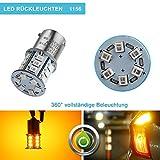 Confezione 2 Lampade Auto ZISTE a LED 3835 Luminosissime per S25 P21W 1156 1141 1073 7506 Gialle per Fari Sosta, Retromarcia