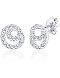 Peora Sterling-Silver Stud Earring For Women Silver - PS5022E