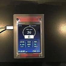 DIY 12en 1índice Detector de calidad del aire interior Monitor HCHO detector detector de CO2otros pm2,5PM5PM 106atmosférica Sensor de partículas con G5+ S8–--- No recargable, USB con banco de la energía,