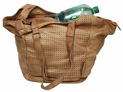 Greenburry Stainwashed Shopper Borsa tote pelle 30 cm Camel