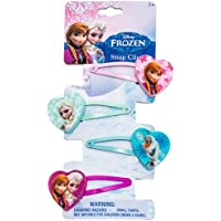 Joy Toy 755076 Disney Frozen 4-Hair Clips on Backer Card