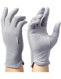 Grau Jamkf Sommer-M/änner des d/ünnen Eises Silk Fiber Stoff Handschuhe Sonnenschutz Breathable Anti-Rutsch-Driving-Handschuhe Touch Screen