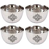 Indianartvilla Stainless Steel Bowl Katori, For Serving Dishes, Serveware, 150 Ml Each, Set Of 4