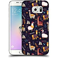 Ufficiale Oilikki Lama Pattern Animale Cover Retro Rigida per Samsung
