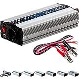 VOLTRONIC® MODIFIZIERTER Sinus Spannungswandler 600W mit E-Kennzeichen, 12V auf 230V, USB, 3 Jahre Garantie, Stromwandler Inverter Wechselrichter Auto PKW