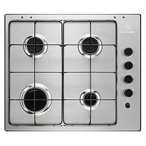 Electrolux EGS 6403 X Integrado Encimera de gas Acero inoxidable – Placa (Integrado, Encimera de gas, Acero inoxidable…