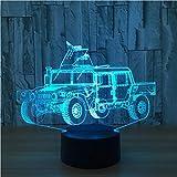 3D Lampe 7 Farbe Krieg Streitwagen Led Nachtlampe Für Kinder Touch Led Usb Tischlampe Baby Schlafen Nachtlicht 3D Illusion Licht Wohnkultur