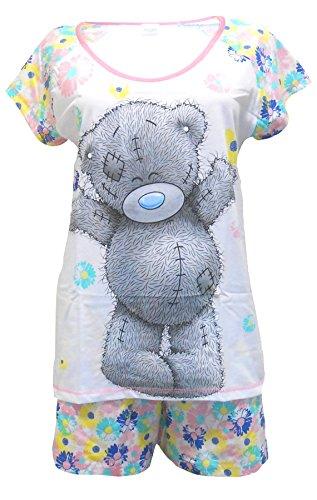 """Me to You Tatty Teddy """"Flowers"""" Shortie Pyjamas pour dames - S"""