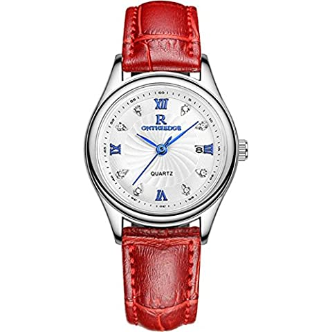 Orologio Ultra-sottile business impermeabile vera pelle cinghia quarzo Mens watch , 7